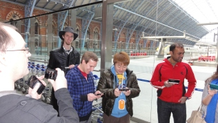 London St Pancras 3DS StreetPass Event with Yoshinori Ono (24)