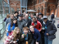 Yoshinori Ono at the London 3DS StreetPass Event in St Pancras Station 27.03.11 from 12pm (2)