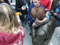 Yoshinori Ono Signing at London 3DS StreetPass Event St Pancras (1)