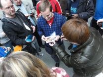Yoshinori Ono Signing at London 3DS StreetPass Event St Pancras (2)