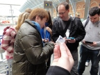 Yoshinori Ono Signing at London 3DS StreetPass Event St Pancras (7)