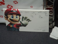 Kapow Comic Con 2011 - Day 2 - IGN Mario Picture Signed By Stars