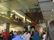 Apple Store Regent Street under a full Nintendo Flash Mob. Success.