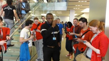 Perhaps the picture of the event. Apple Store Security didn't like us about, but would remove us.