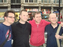 The Nintendo Scene crew in attendance (From left - Wes, StealthBuda, Stuart, Neil)