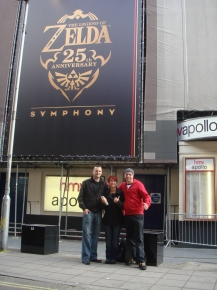 StealthBuda, Orla and Stuart at the Zelda 25th Anniversary Symphony in London