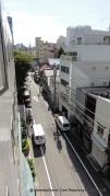 The view out of our Chisun Hotel Ueno hotel room.