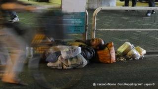 Homeless in Tokyo, a tramp among Ameyayokocho Market