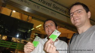 Outside the JR East Travel Service Center Sporting our Suica Cards - Terminal 1, Narita Airport