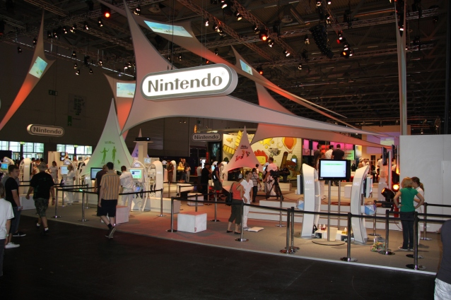 Nintendo's booth at the Gamescom 2009